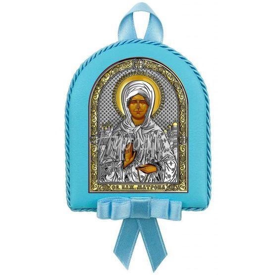 """Икона детская """"Св. Матрона Московская"""" для мальчика 6402OC"""