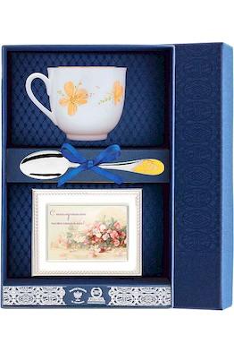 Набор чайный «Ландыш-Желтые цветы» с рамкой для фото