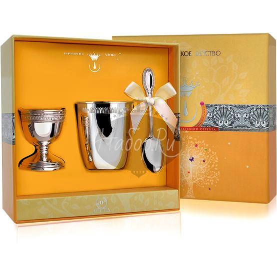 Набор детского серебра для завтрака «Император» из 3 предметов