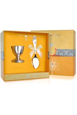 Набор детского серебра для завтрака «Снеговик» из 2 предметов