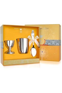 Набор детского серебра для завтрака «Снеговик» из 3 предметов