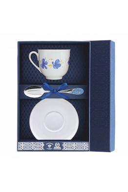 """Набор фарфоровый чайный """"Голубые цветы"""""""