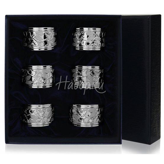 Набор  из 6 колец для салфеток 535КЦ00001