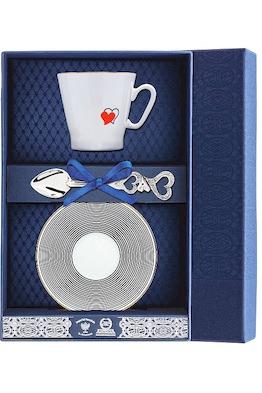 Набор кофейный «Черный кофе-Сердечки»