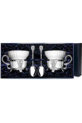 Набор серебряная чайная пара «Меценат»