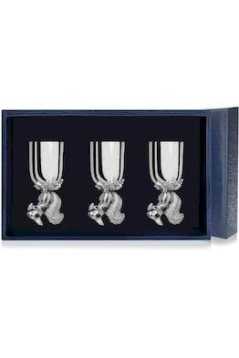 Набор серебряных рюмок «Белка» из 3 предметов