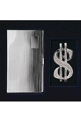 """Набор серебрянный """"Доллар"""" с визитницей"""
