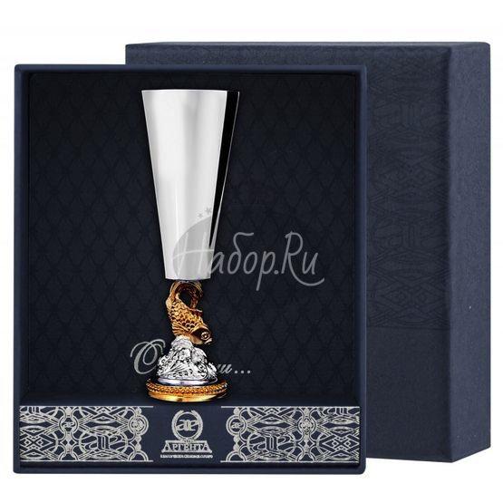 """Рюмка """"Золотая рыбка"""" с позолотой 577РМ00002"""