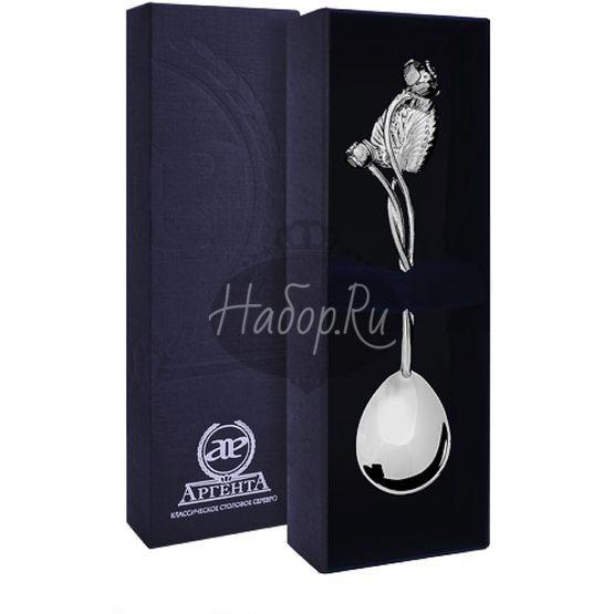 Серебряная чайная ложка «Кувшинка»