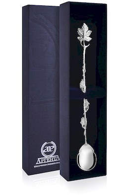 Серебряная ложка для напитков «Виноград»