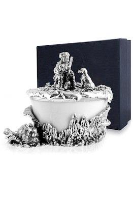 Серебряная солонка «Заячья охота»