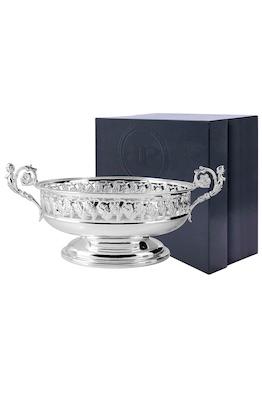 Серебряная ваза овальная «Виноград»