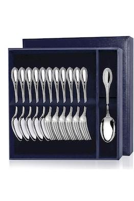Серебряный десертный набор «Император» 12 предметов (ложки и вилки)