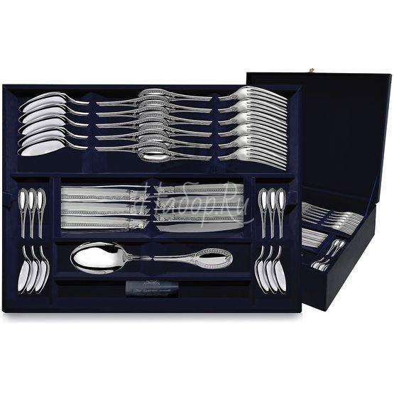 Серебряный столовый набор «Император» 48 предметов