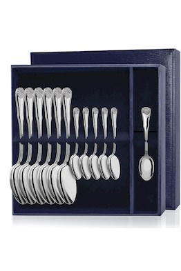 Серебряный столовый набор «Визит» 12 предметов (столовые и чайные ложки)