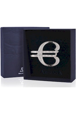 Серебряный зажим для купюр «Евро»