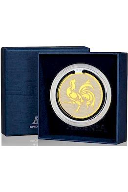 Закладка для книг с логотипом «Год петуха» с позолотой