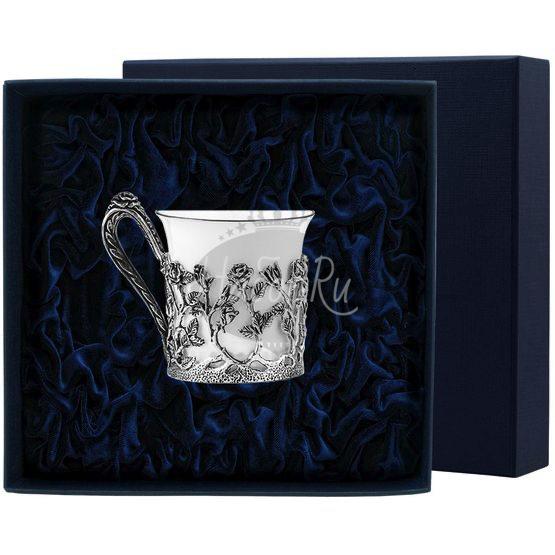 """Чашка кофейная """"Роза"""" с чернением 1056ЧШ07806"""