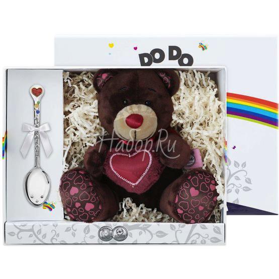 """Набор для малышей DODO """"Сердечко"""" (2 пр. игр. Мишка Choco + лож. Сердечко с эм) 1377НБ05807"""