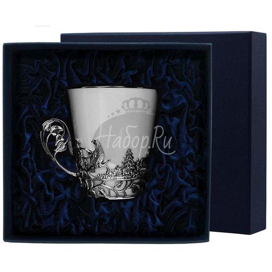 """Чашка чайная """"Тетерев"""" с чернением 538ЧШ03806"""