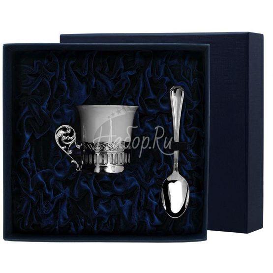 """Набор кофейная чашка """"Богема"""": ложка, чашка 542НБ07801"""