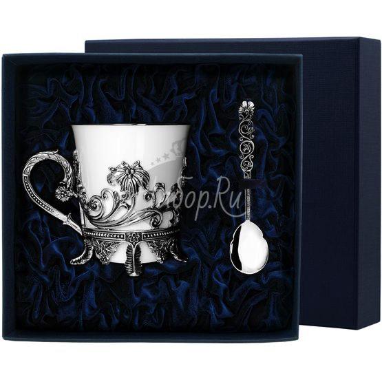 """Набор чайная чашка """"Цветочная"""": ложка, чашка 568НБ03806"""