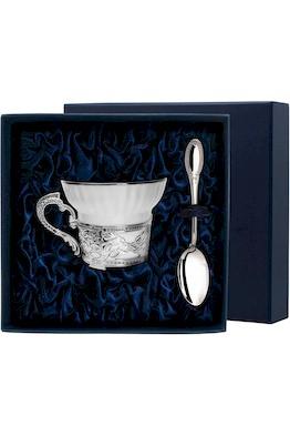 """Набор чайная чашка """"Константин Великий"""": ложка, чашка"""