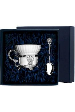 """Набор чайная чашка """"Меценат"""": ложка, чашка"""