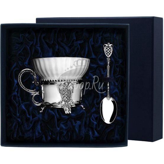 """Набор чайная чашка """"Меценат"""": ложка, чашка 570НБ03806"""