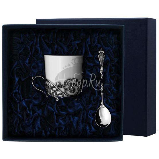 """Набор кофейная чашка """"Витая"""": ложка, чашка 572НБ07806"""