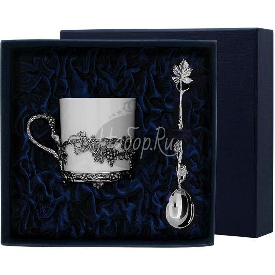 """Набор чайная чашка """"Виноград"""": ложка, чашка 574НБ03806"""