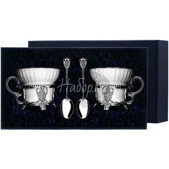 """Набор чайных чашек """"Меценат"""": ложка, чашка 588НБ03806"""