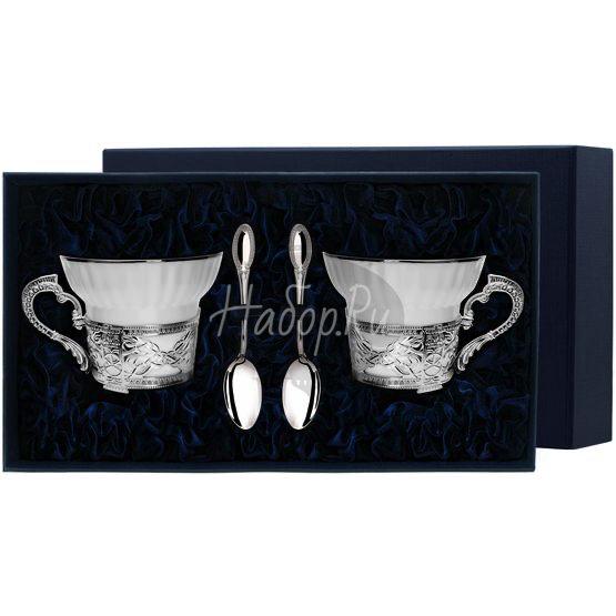 """Набор чайных чашей """"Константин Великий"""": ложка, чашка 594НБ03801"""