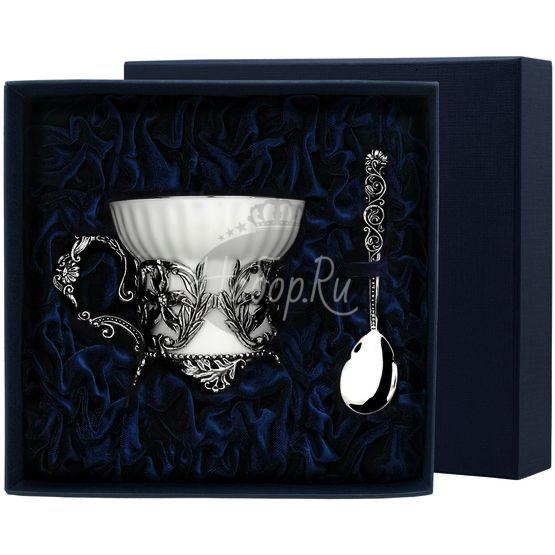 """Набор чайная чашка """"Симфония"""": ложка, чашка 656НБ03806"""