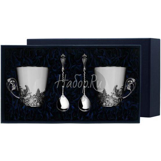 """Набор чайных чашек """"Тетерев"""": ложка, чашка 671НБ03806"""