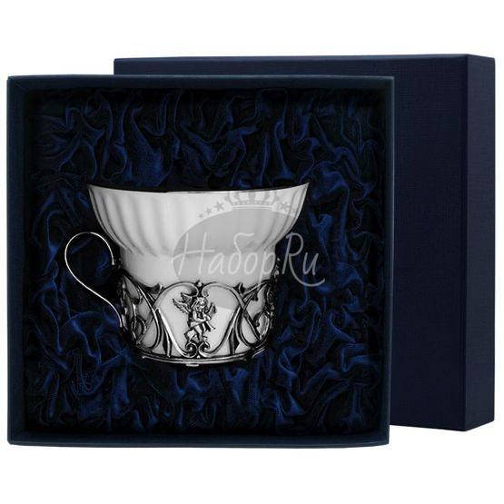 """Чашка чайная """"Ангел"""" с чернением 672ЧШ03806"""