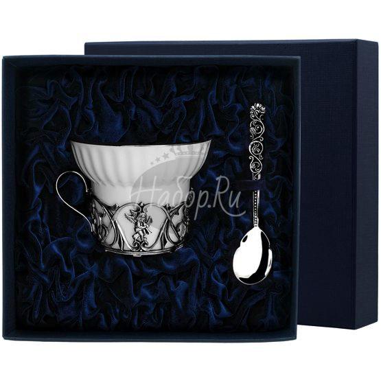 """Набор чайная чашка """"Ангел"""": ложка, чашка 691НБ03806"""