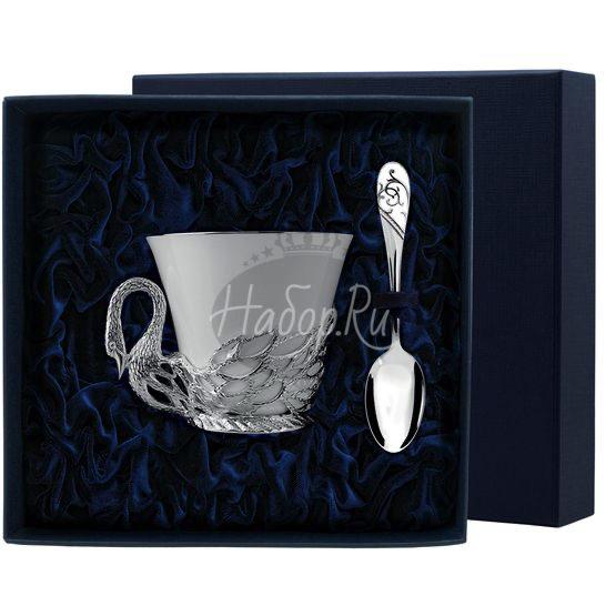 """Набор чайная чашка """"Лебедь"""": ложка, чашка 731НБ03801"""