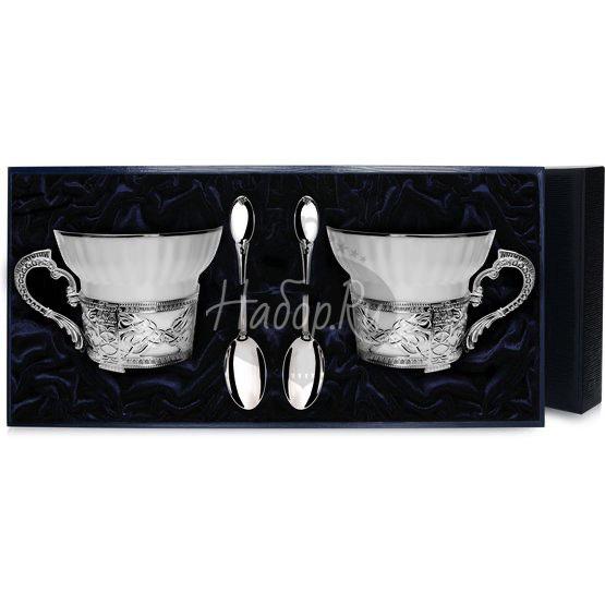 Набор чайных чашек под логотип: ложка, чашка 764НБ03801