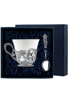 """Набор чайная чашка """"Натюрморт"""": ложка, чашка"""