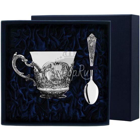 """Набор чайная чашка """"Королевская охота"""": ложка, чашка 876НБ03806"""