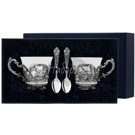"""Набор чайных чашек """"Королевская охота"""": ложка, чашка 877НБ03806"""