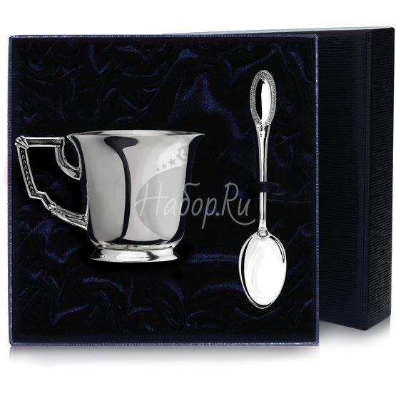 """Набор чайная чашка """"Император"""": ложка, чашка 966НБ03806"""