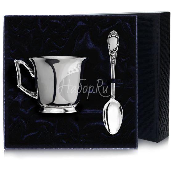 """Набор чайная чашка """"Элегия"""": ложка, чашка 967НБ03806"""