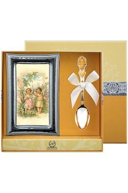 """Набор детский """"Ангел"""": ложка и рамка для фото"""
