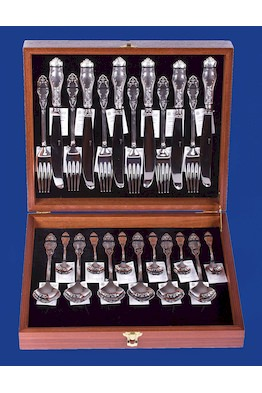 Набор столового серебра на 6 персон №12 + картонный футляр в подарок