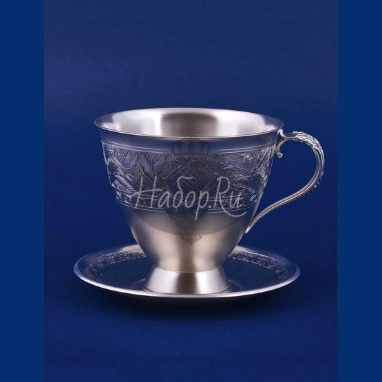 Серебряная чашка с блюдцем №20 (арт. С33687602025)