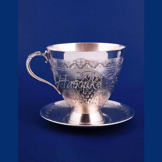 Серебряная чашка с блюдцем №22 (арт. С336877022)