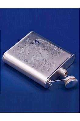 Серебряная фляжка №10
