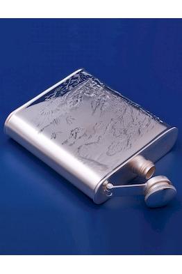 Серебряная фляжка №9